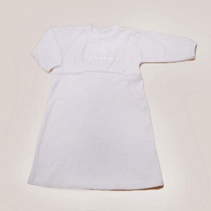 Embroidered Jersey Baby gown
