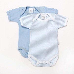 Pair of Blue  Cotton Bodysuits Age 3-6 Months