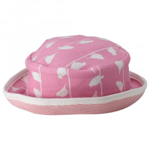 Organic Pink Reversible Sun Hat, 0-5 Months