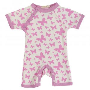 Organic Cotton Pink Printed Romper Short Age: 12-18 Months