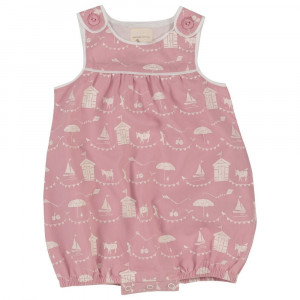 Organic Cotton Pink  Play suit,  Age 3-6 Months