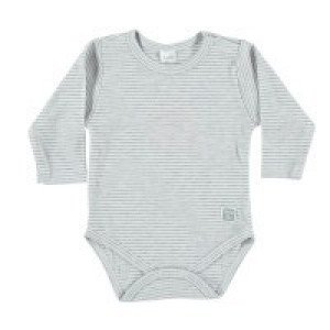 Petite Oh! Pima Cotton Long Sleeve Stripe Bodysuit 0-3 Months