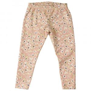 Organic Girls Pink Floral Leggings 2-3 Years
