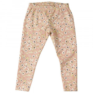 Organic Cotton Pink Floral Leggings 3-4 Years