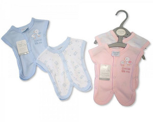 Premature Baby Cotton Incubator Sleepsuits 2 pack, Pink 2-3 lbs