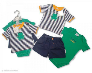 Baby Boy Cotton Summer Short Set - Newborn