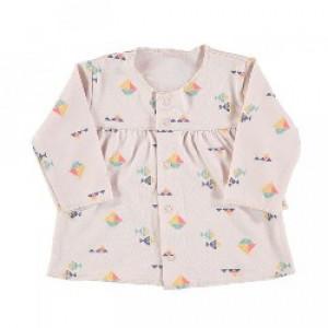 Baby Girls 100% Cotton Top in Beige size 6-9 Months
