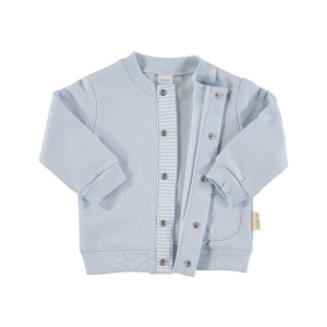 Blue Cotton Flannel Jacket in 100% Cotton Flannel, Age 6-9 Months