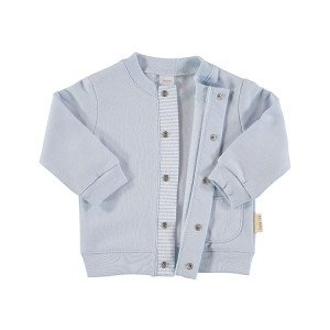 Blue Flannel Cotton Jacket in 100% Cotton Flannel, Age 9-12 Months