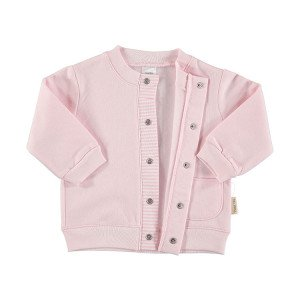 Pink Cotton Flannel Jacket in 100% Cotton Flannel, Age 3-6 Months
