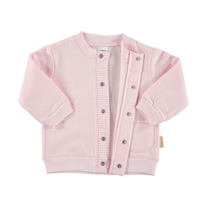 Pink Cotton Flannel Jacket in 100% Cotton Flannel, Age 9-12 Months
