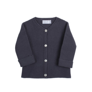 Petite Oh! Navy Blue Knitted Cotton Cardigan New Born