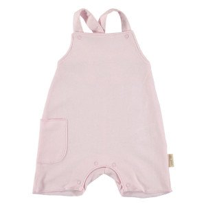 Baby Girls Pink Overalls, 100% Cotton, Age: 3-6 Months