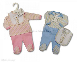 Baby Cotton Leggings Set  in Pink 5-8 lbs