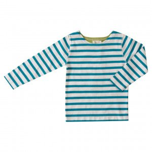 Pigeon Organic Blue and White Cotton T-Shirt 4-5 Years