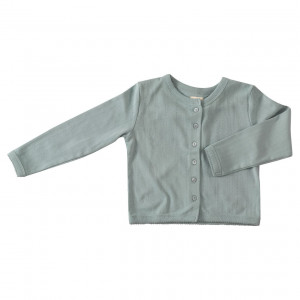 Pigeon Organic Blue Cotton Cardigan, 1-2 Years