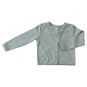 Pigeon Organic Blue Cotton Cardigan, 4-5 Years