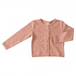 Pigeon Organic Pink Cotton Cardigan, 4-5 Years