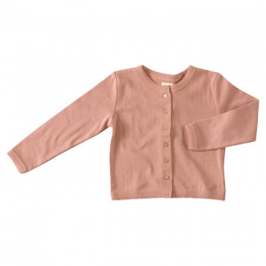 Pigeon Organic Pink Cotton Cardigan, 1-2 Years