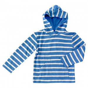 Pigeon Organic Cotton Blue & White Hoody 4-5 Years