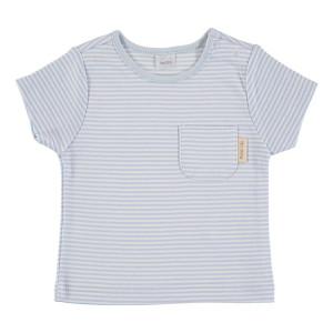 Blue & White Short Sleeve striped T-Shirt 100% Cotton, 18-24 Months