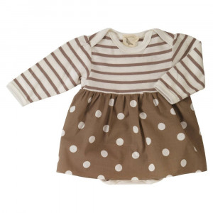 Organic Cotton baby body with integrated skirt Age: 12-18 Months