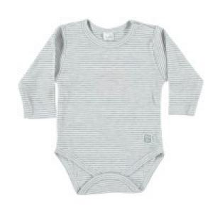 Petite Oh! Cotton Long Sleeve Striped Bodysuit 6-9 Months