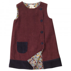 Organic Cotton Sleeveless Reversible Dress by Pigeon 6-12 Months