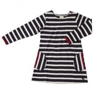 Organic Navy Blue Stripe Dress 1-2 Years