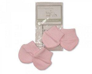 Premature Baby Scratch Mittens in Pink