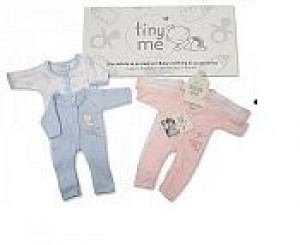 Premature Baby Pair of Sleepsuits in Blue Size 5lb