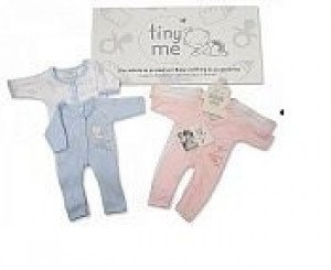 Premature Baby Pair of Pink Sleepsuits size 5lbs