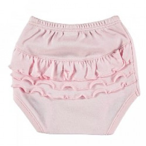 Baby Cotton Nappy Cover with Ruffles in Pink Age: 0-3 Months