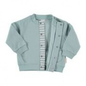 Green Cotton Flannel Jacket in 100% Cotton Flannel, Age 6-9 Months