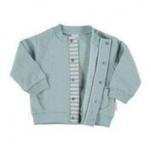 Green Cotton Flannel Jacket in 100% Cotton Flannel, Age 9-12 Months