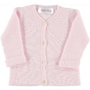 Pink Knitted Cardigan for New Born by Petitie Oh!