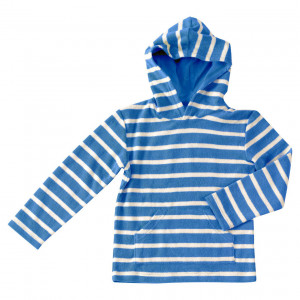 Pigeon Organic Cotton Blue & White Hoody 3-4 Years