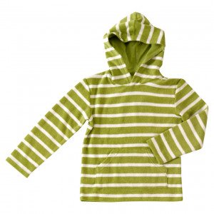 Organic Cotton Towelling Striped Hoody for 4-5 Years